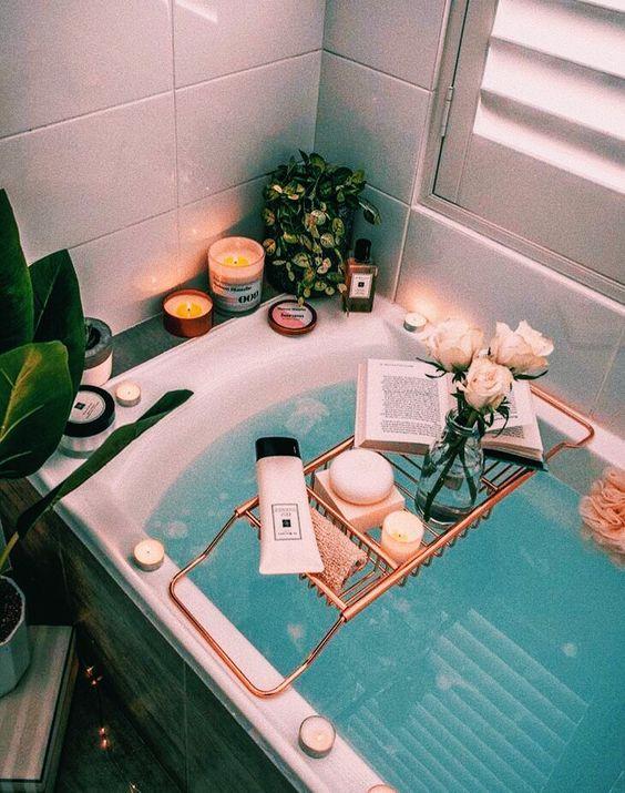 Dicas de produtos para um banho relaxante